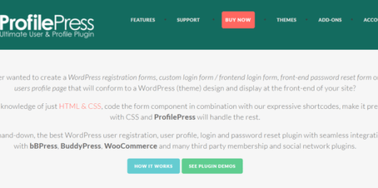 ProfilePress Review 2019: WordPress User Registration