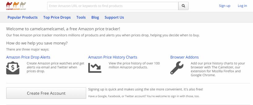 CamelCamelCamel - Amazon Price Tracker Tool
