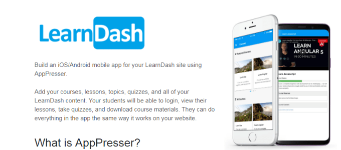 AppPresser Review With Discount Coupon-LearnDash