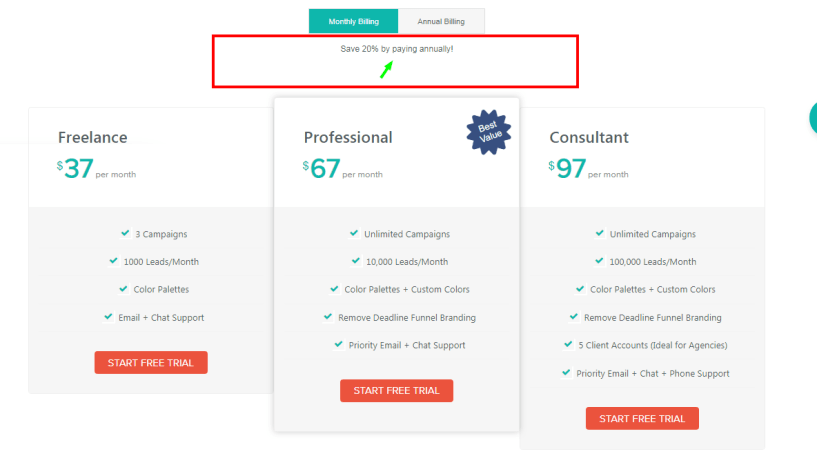Deadline Funnel Review With Discount Coupon -Pricing