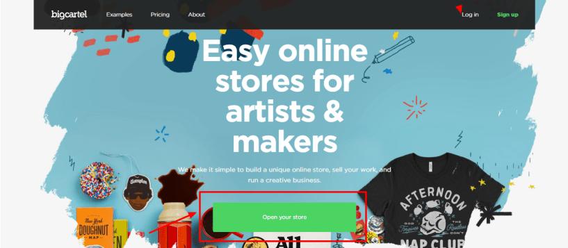 Best Ecommerce Platform -Big Cartel review open your store