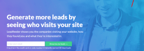 Leadfeeder review -login page