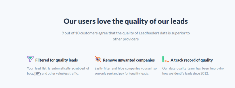 Leadfeeder review - service