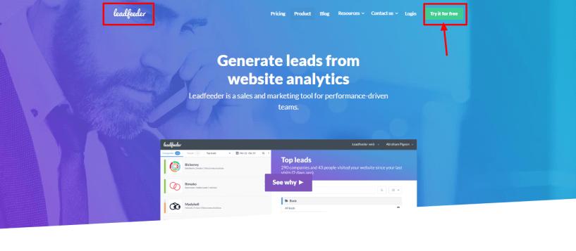 Leadfeeder review - web analist