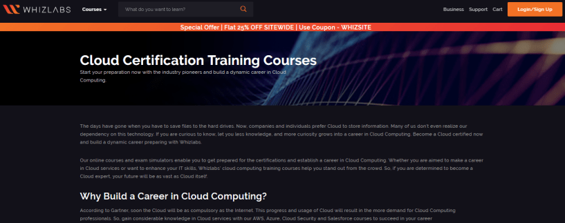 Whizlabs Review With Discount Coupon- Cloud Certification Training Courses
