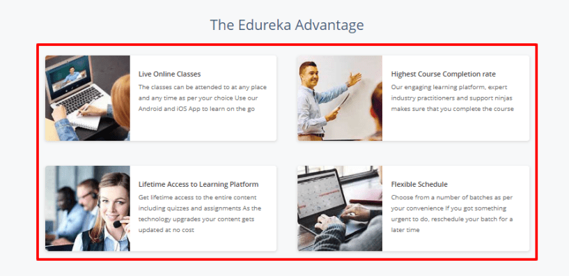 Edureka coupon code - advantages