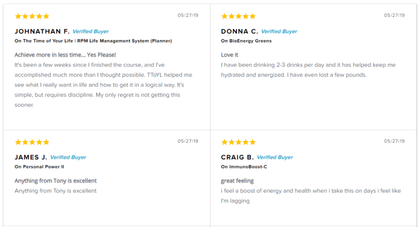 Reviews – Tony Robbins Courses Review