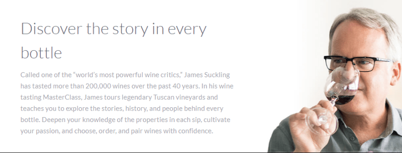 James Suckling Masterclass Review - story in every bottle