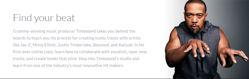 Timbaland MasterClass Review - find your beat