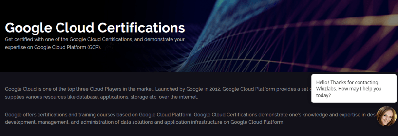 How Whizlabs Online Training Course- Google cloud Certifications