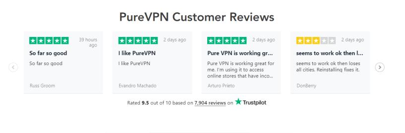 PureVPN Discount COupon Codes- Customer Reviews