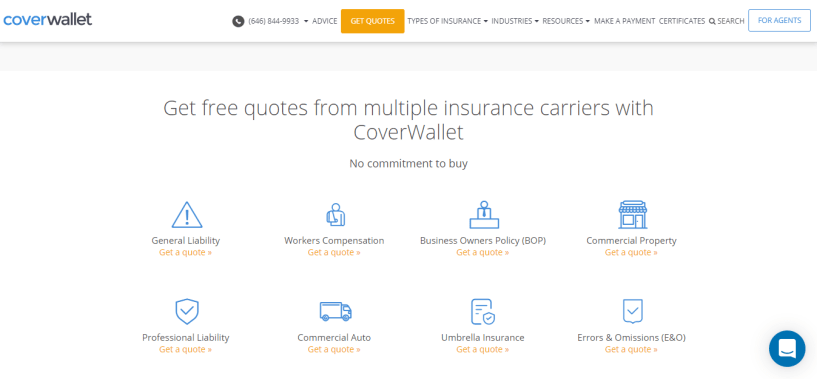 CoverWallet Review - Free Quote