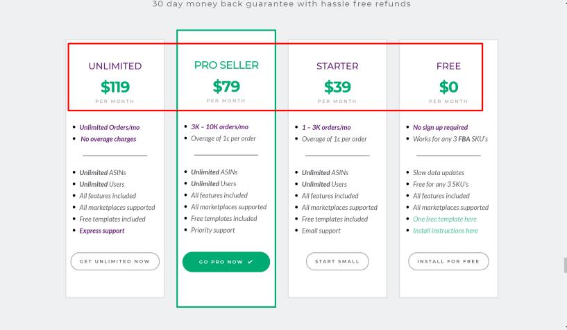 Goriulla ROI pricing