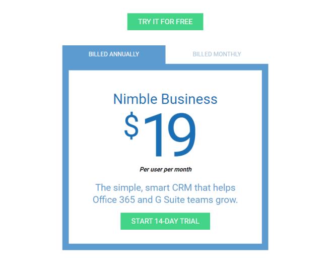 Nimble Pricing Plan