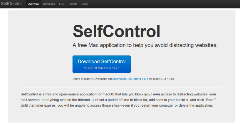 SelfControl- Apps To Help You In Focus