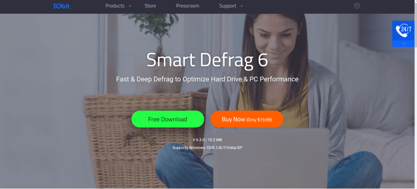 Smart Defrag disk free software