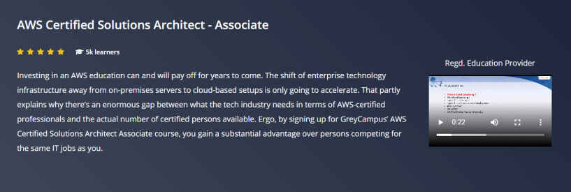 GreyCampus Review- AWS Certified