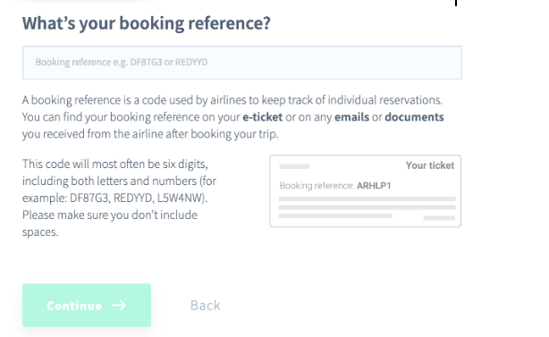 AirHelp Affiliate Program Review - Booking Reference