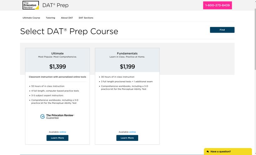 DAT Prep courses review