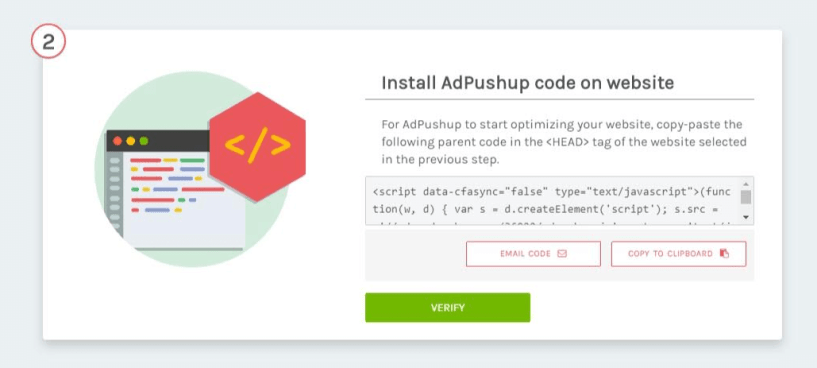 Install AdPushup Code On Website
