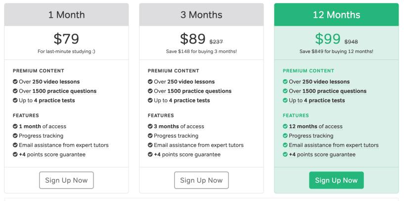 Magoosh ACT Pricing Plans