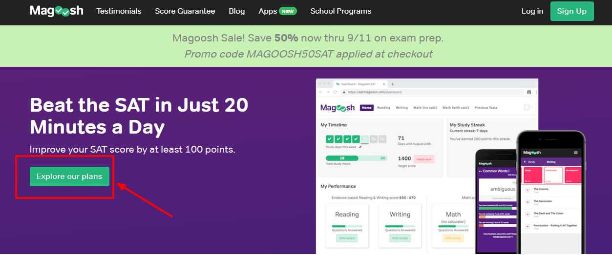 College Student Online Test Prep Magoosh Discount 2020