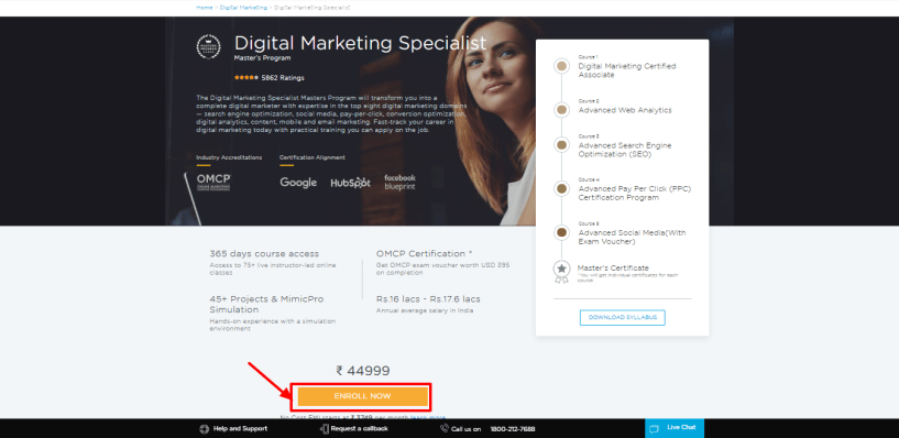 Simplilearn Review - Digital Marketing