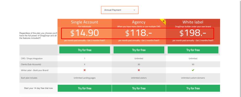 DragDropr Pricing