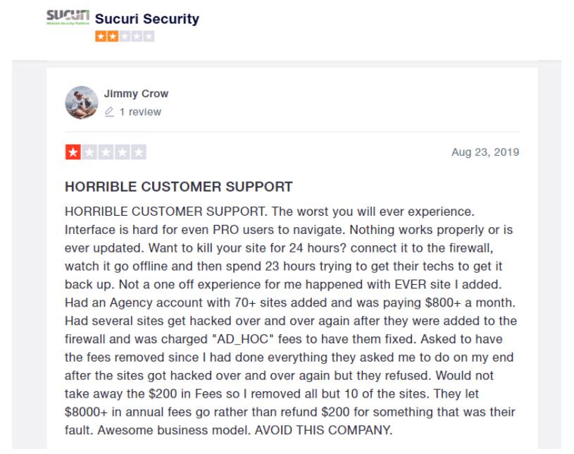 Astra vs Sucuri Comparision Review- Sucuri Customer Support