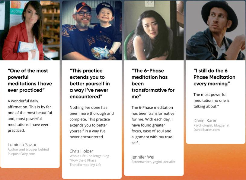 The 6 Phase Meditation Mindvalley- Student Testimonials