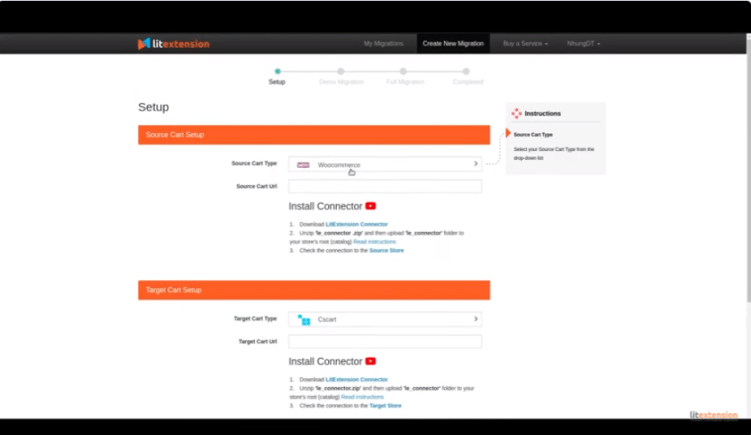Shopify-Migration-Shopping LitExtension - Setup
