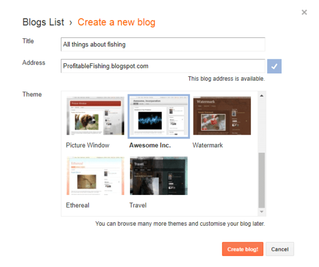Blogger Blog Sub Domain