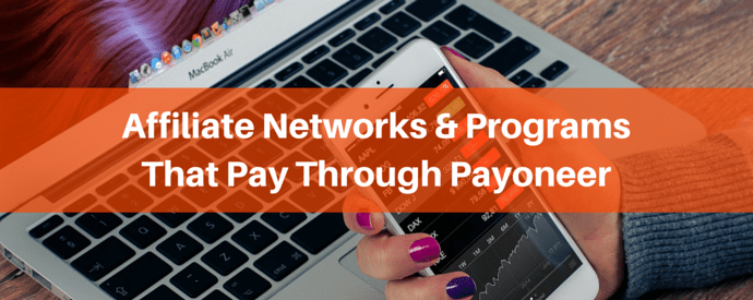 affiliate payment via payoneer