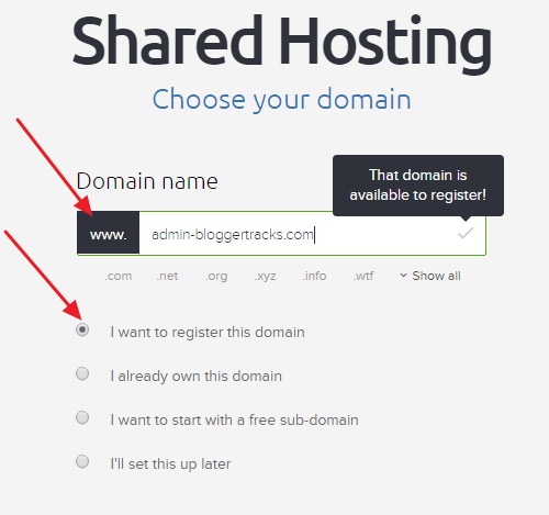 DreamHost Coupon Code - Domain Name Selection