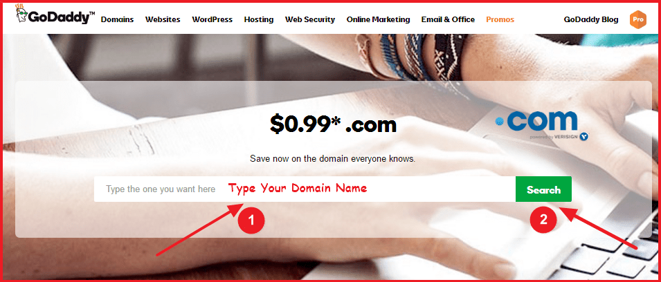 buy domain name from godaddy - domain search
