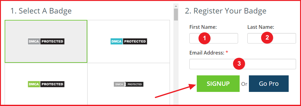 add dmca protection badge