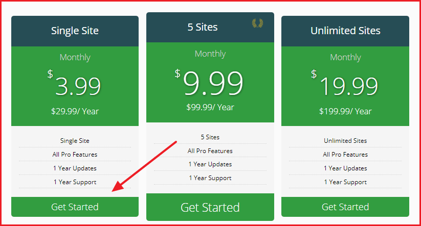 WP Coupon and Deals Plugin - Plan Selection