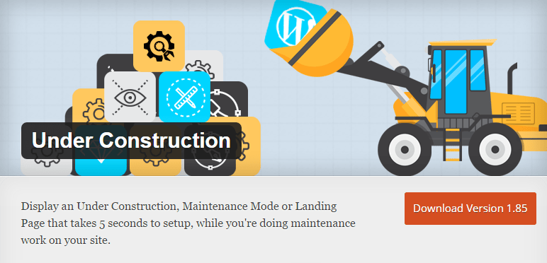 Under Construction Page - WordPress Plugin