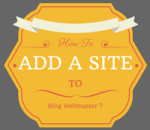how to add a site at bing webmaster tool