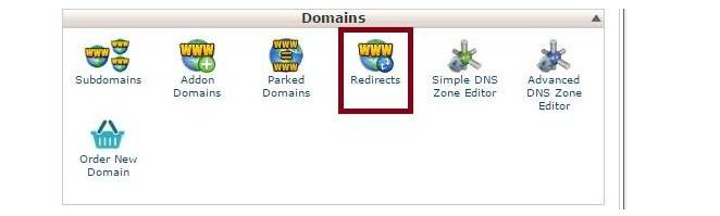 how to redirect the domain to another domain