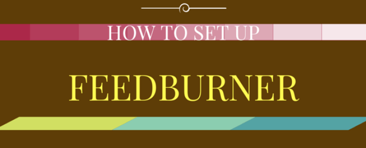 how to set up feedburner for wordpress