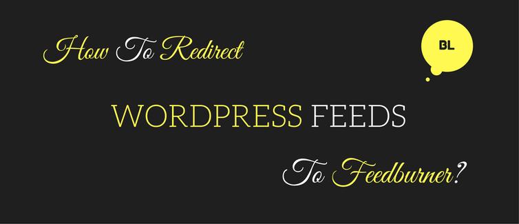 redirect wordpress feeds to feedburner