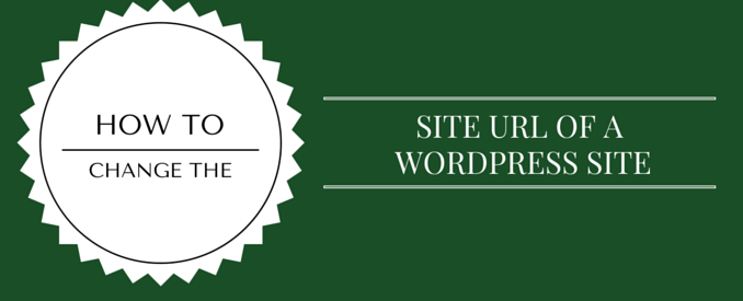 Change The Domain of a WordPress Site
