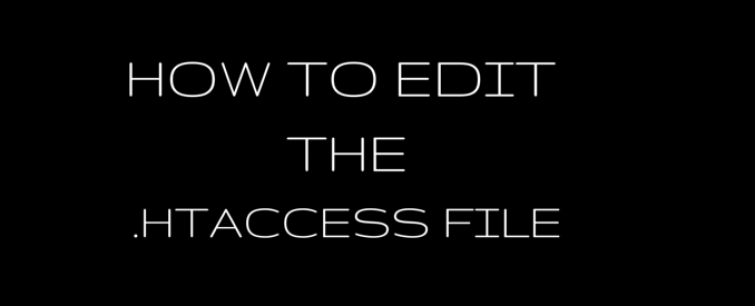 how to edit the htaccess file