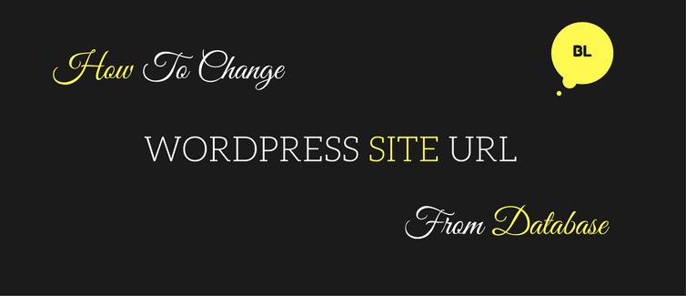 change wordpress url in database