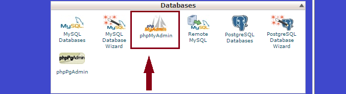import database in mysql