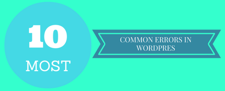 common errors in wordpress