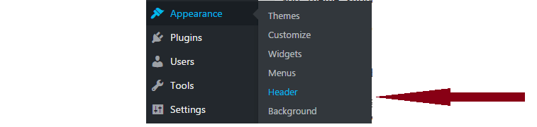 add custom header to wordpress theme