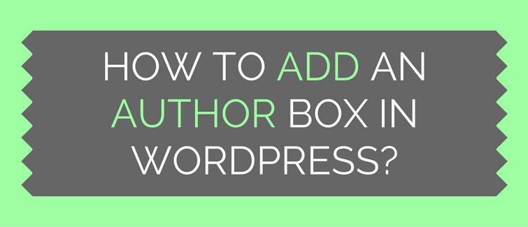 how to add an author info box in wordpress