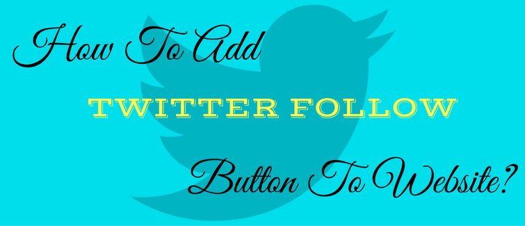 add twitter follow button